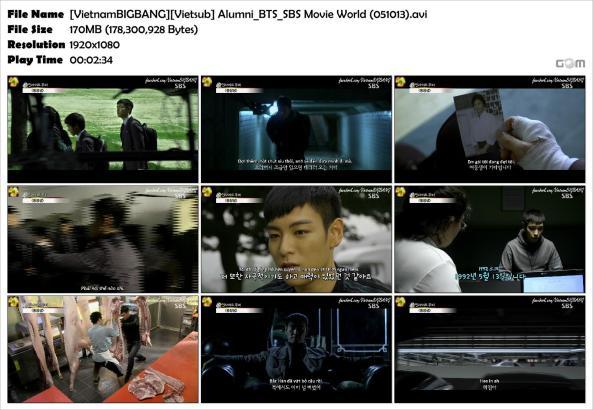 [VietnamBIGBANG][Vietsub] Alumni_BTS_SBS Movie World (051013)_Snapshot