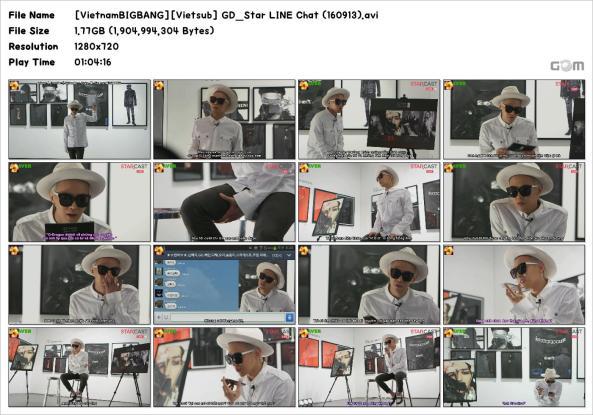 [VietnamBIGBANG][Vietsub] GD_Star LINE Chat (160913)_Snapshot