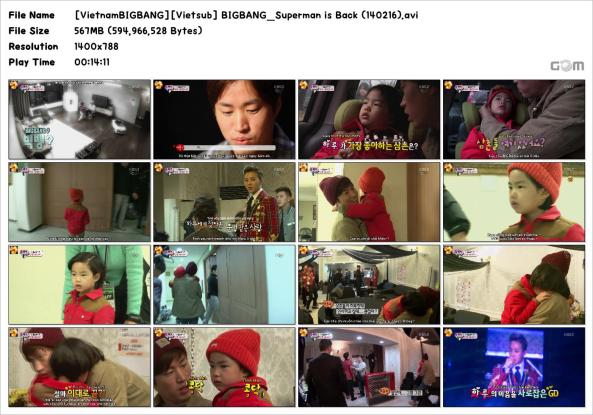 [VietnamBIGBANG][Vietsub] BIGBANG_Superman is Back (140216)_Snapshot